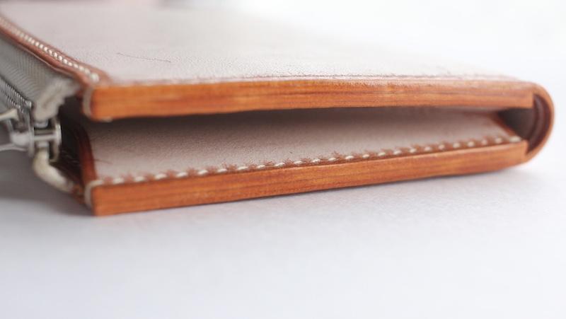 L字ファスナーウォレット(マンゴーオレンジ/ホワイトワックス)