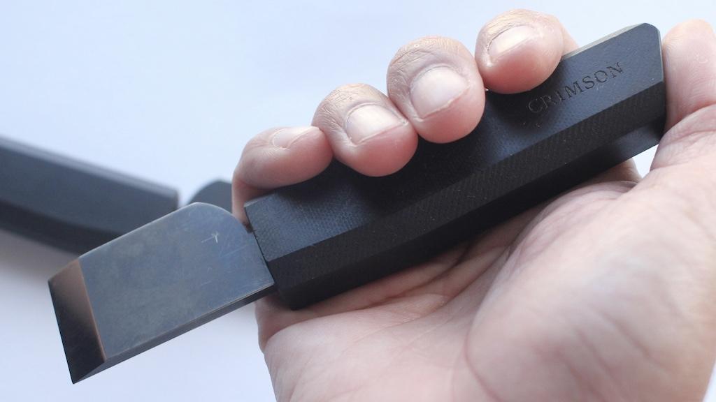 Crimson Flush Cut Knife(クリムゾン フラッシュ カット ナイフ/革包丁)