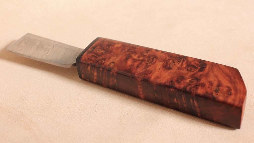 High figure bloodwood burl/ANONYMOUS MADE 革包丁