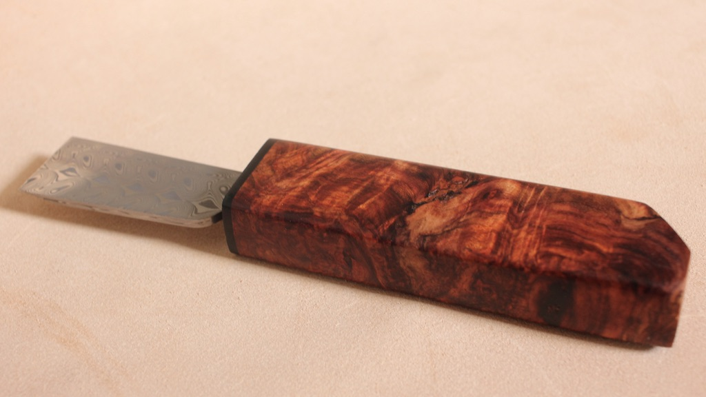 High figure bloodwood burl/ANONYMOUS MADE 革包丁