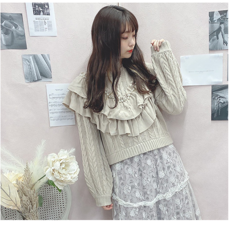 HB big cable pearl knit
