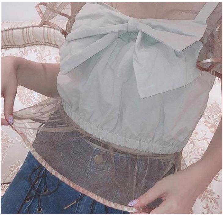 HS ribbon mesh TOPS