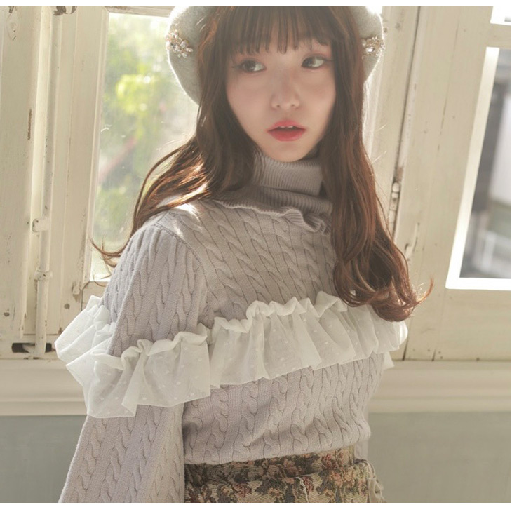WS cable tulle knit
