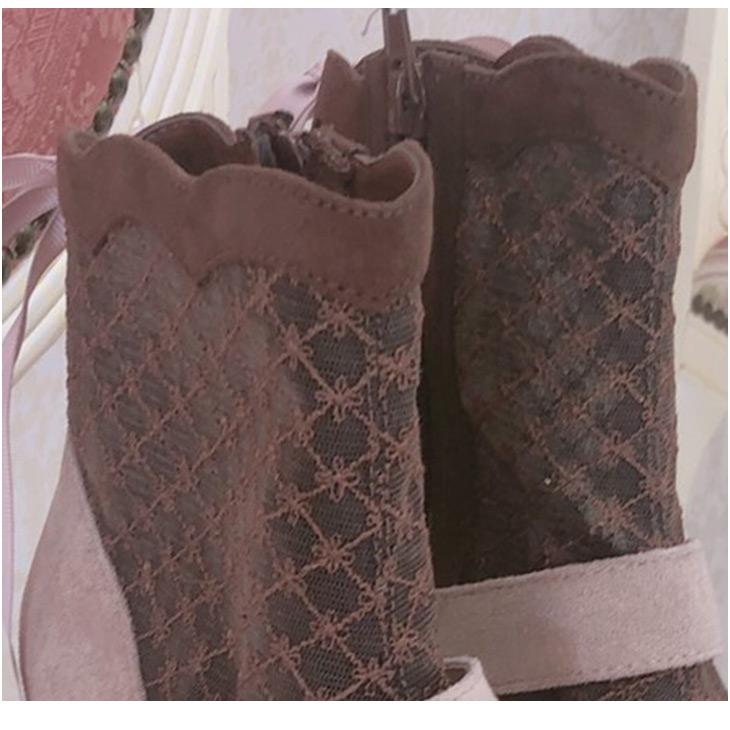 EV lace bijou boots