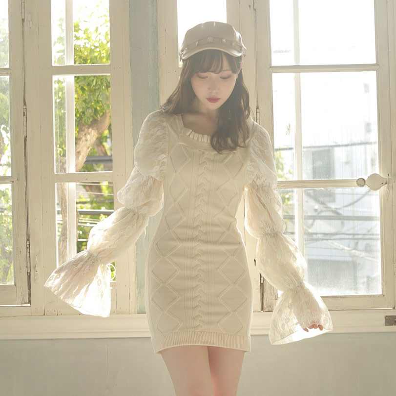 HB cable puff knit O/P