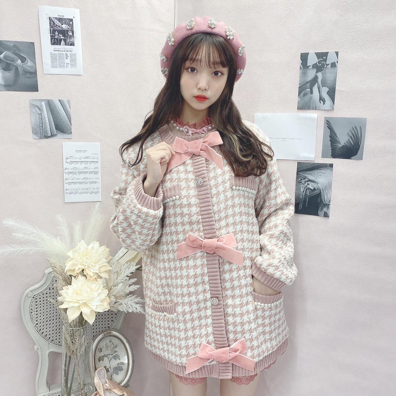 HB ribbon tweed knit C/D