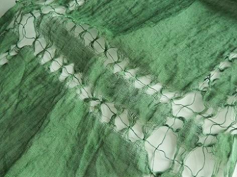 リネン麻100%変わり手織りストール 40×180cm+房 1枚