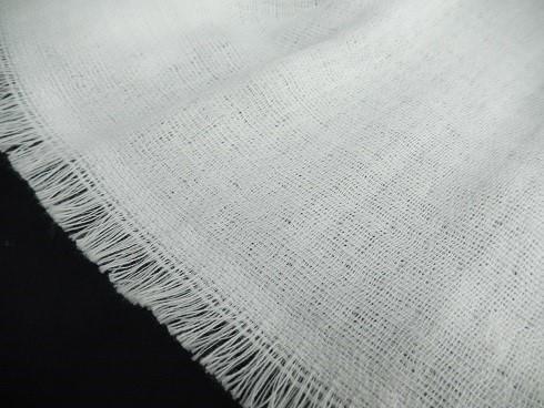 オーガニック糸混紡マフラー(晒) 34×180cm 1枚