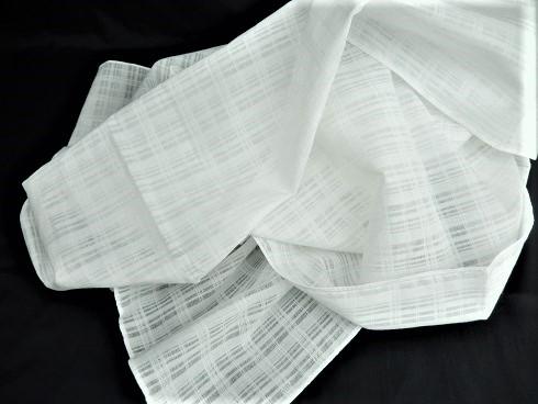 綿100% 格子薄手生地 48×160cm 10枚