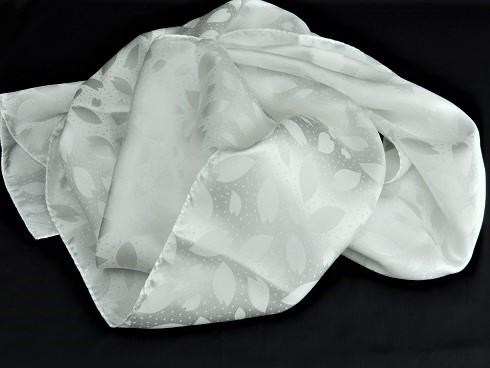 絹100%サクラ花びら帯揚ストール 35×160cm 1枚