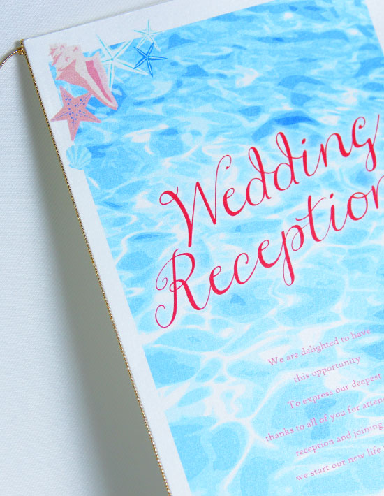 【アイダ】シェル 結婚式 席次表 南国リゾートデザイン  Oceanz leaf2