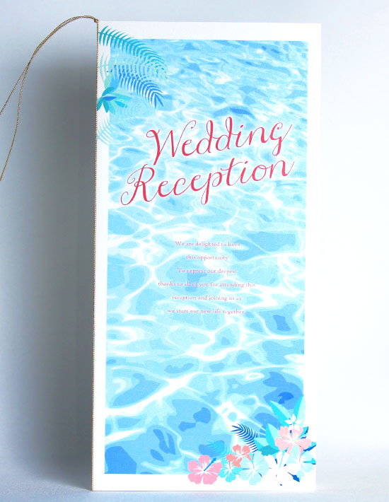 【アイダ】フラワー 結婚式 席次表 南国リゾートデザイン  Oceanz leaf2