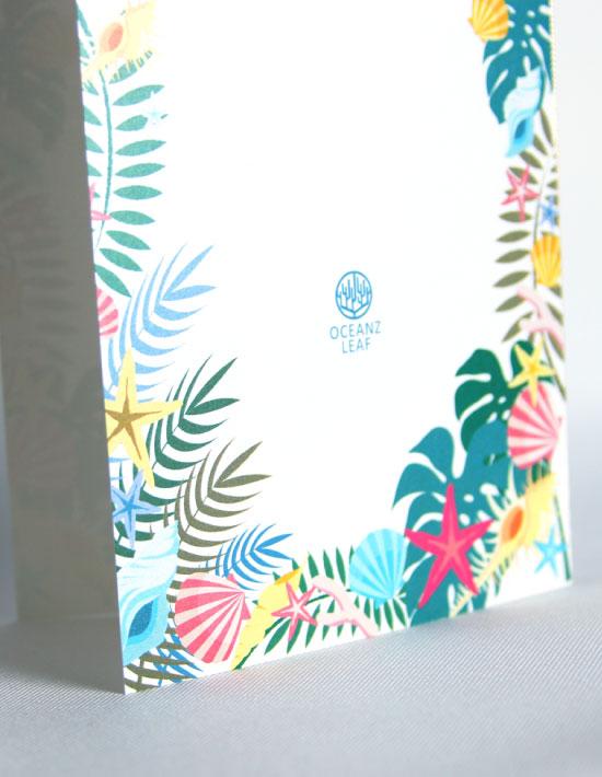 【アマンダ】ホワイト 結婚式 席次表 南国リゾートデザイン  Oceanz leaf2