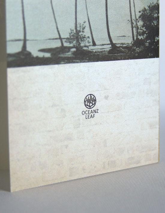 【エルモ(ロング型)】 招待状 南国リゾートデザイン  Oceanz leaf2