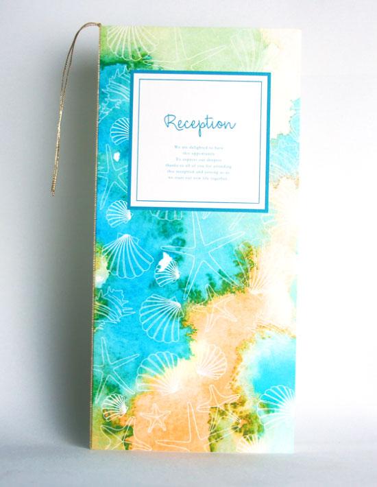 【ヴィルジニア】グリーン 結婚式 席次表 南国リゾートデザイン  Oceanz leaf2