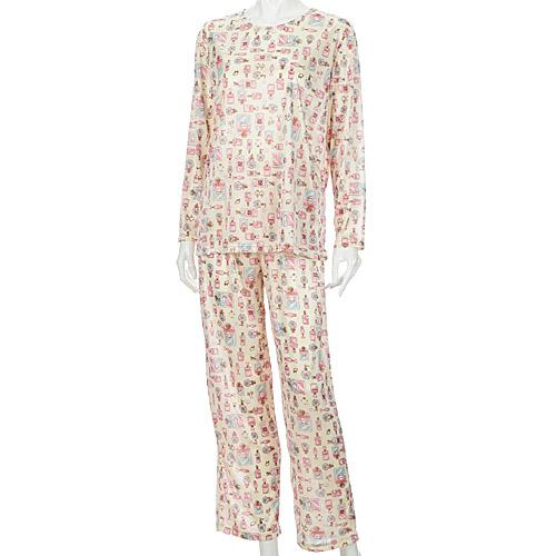 【特価】 エトワール 携帯パジャマ 旅行パジャマ  ポーチ付き パヒューム柄 M〜LL