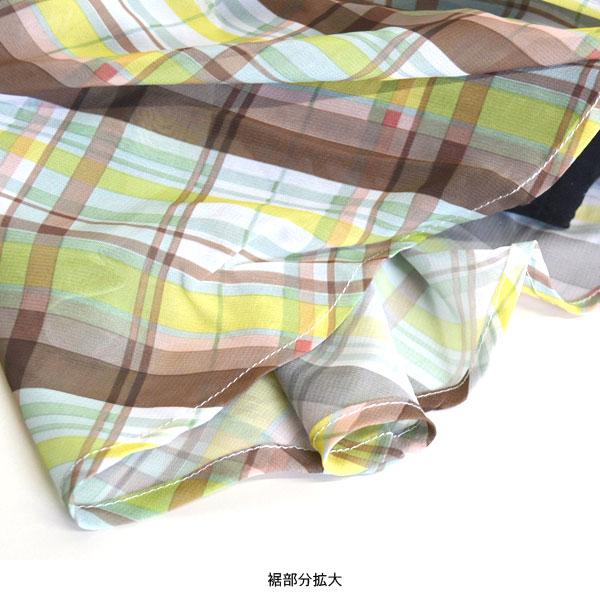チェック柄ミニスカート 【送料pt0】