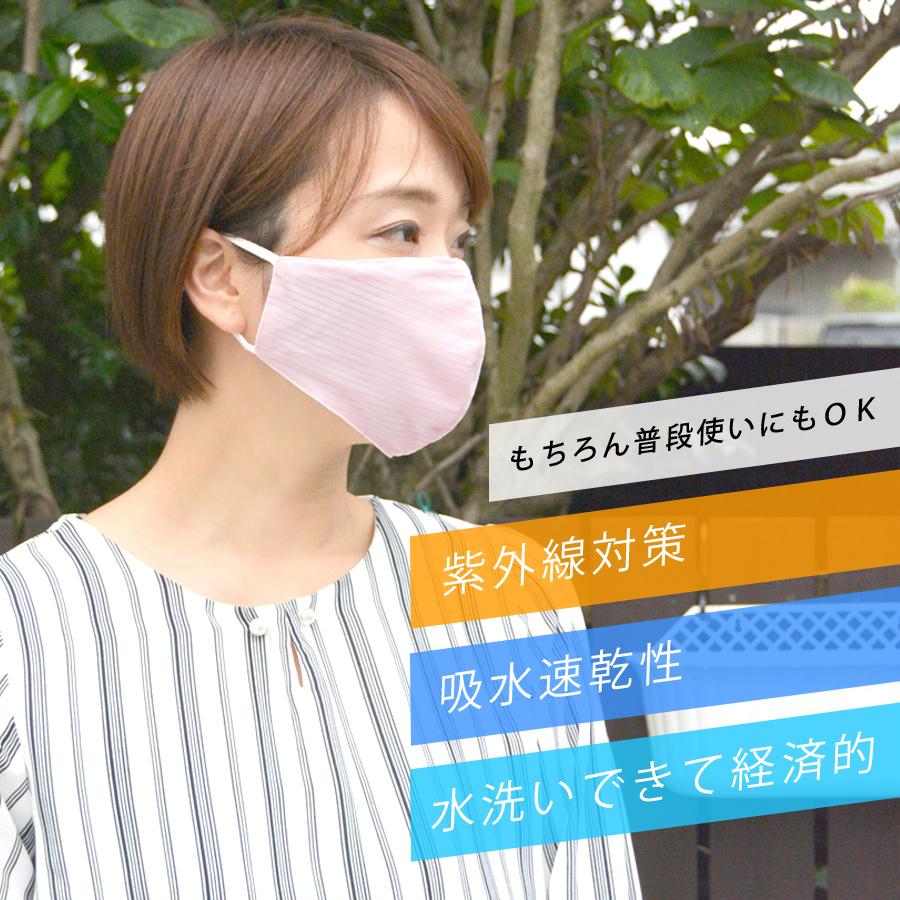 2枚セット 冷感マスク アイスシルク 洗えるマスク 【送料pt100】