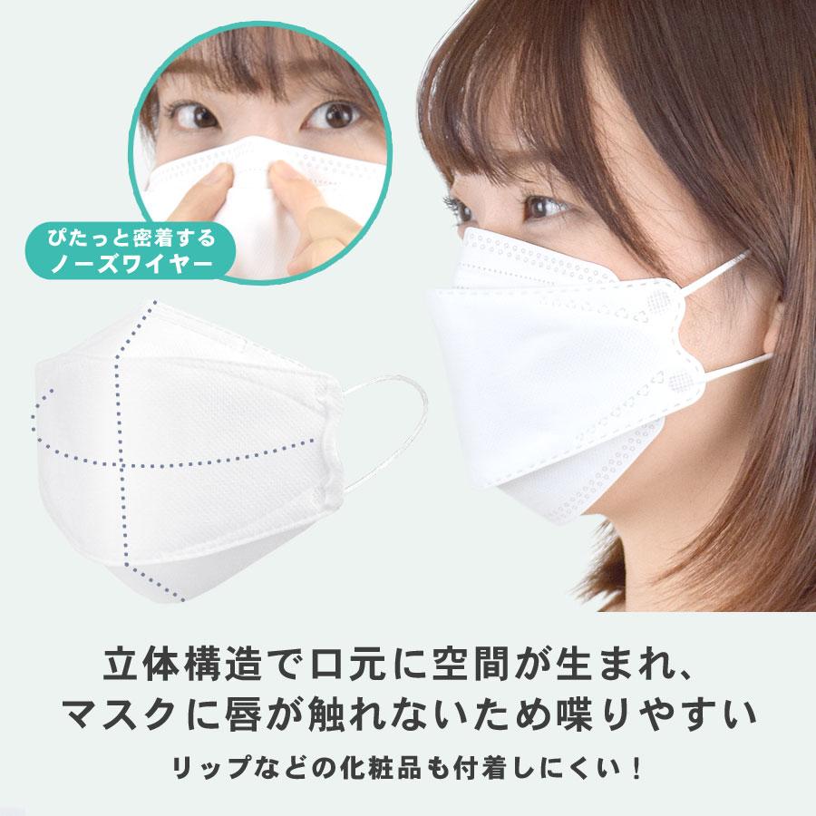 KF94 マスク 不織布 4層マスク 15枚入り 立体 3D 口元 空間 使い捨てマスク 大人用 【送料pt100】