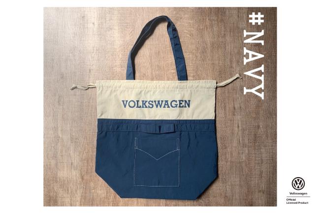 ポケッタブルツートントートバッグ レギュラーサイズ【VW T1 BUS】