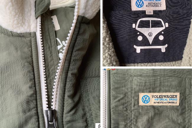【KIDS】VWボアフリースジャケット T1 BUS