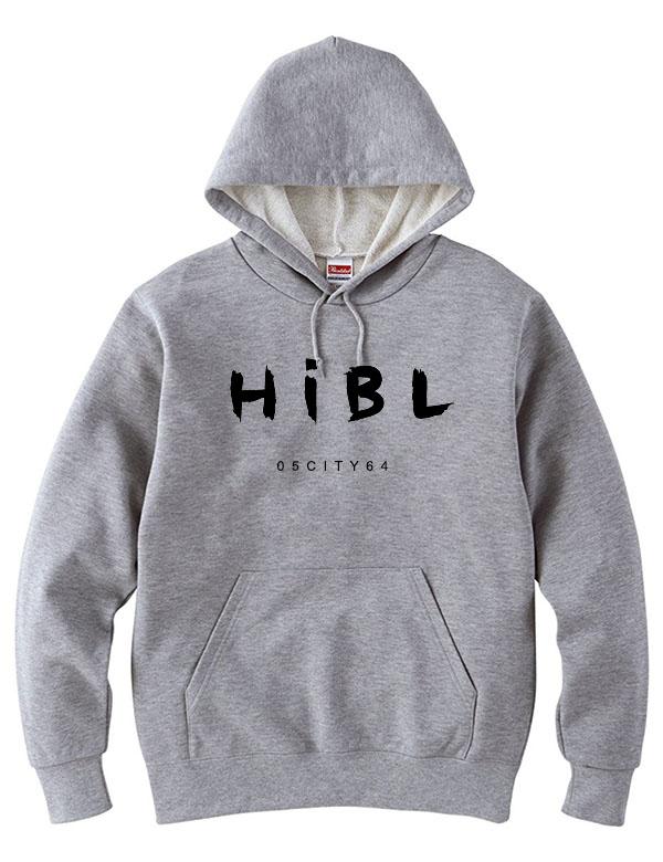 """HiBowL プルオーバーパーカー """"handwrite"""" グレー  [Hi-phd-3]"""