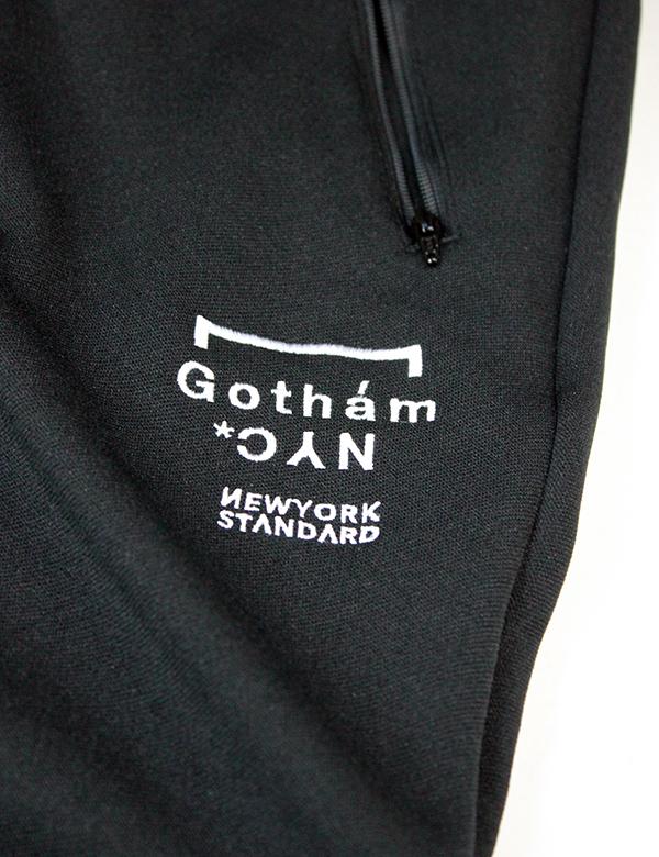 GOTHAM NYC (ゴッサムエヌワイシー) SKINNY JERSEY PANTS ブラック×ホワイト [GN619]