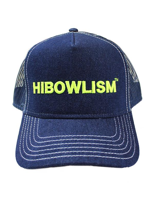 """HiBowL Denim Mesh Cap """"ISM"""" ネオンイエロー [Hi-mcp-001]"""