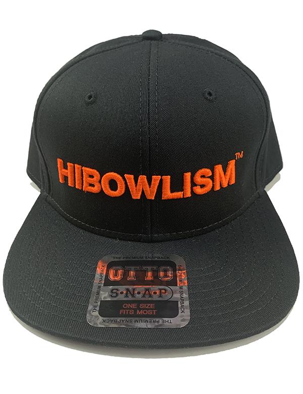 "HiBowL Snap Back Cap ""ISM"" ブラック×オレンジ [hi-bcp-005]"