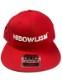 """HiBowL Snap Back Cap """"ISM"""" レッド [hi-bcp-005]"""
