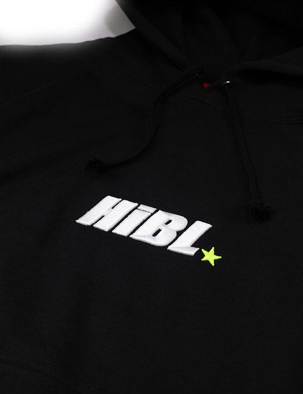 "HiBowLパーカー ""HiBL"" ブラック×ホワイト×イエロー  [Hi-phd-6]"