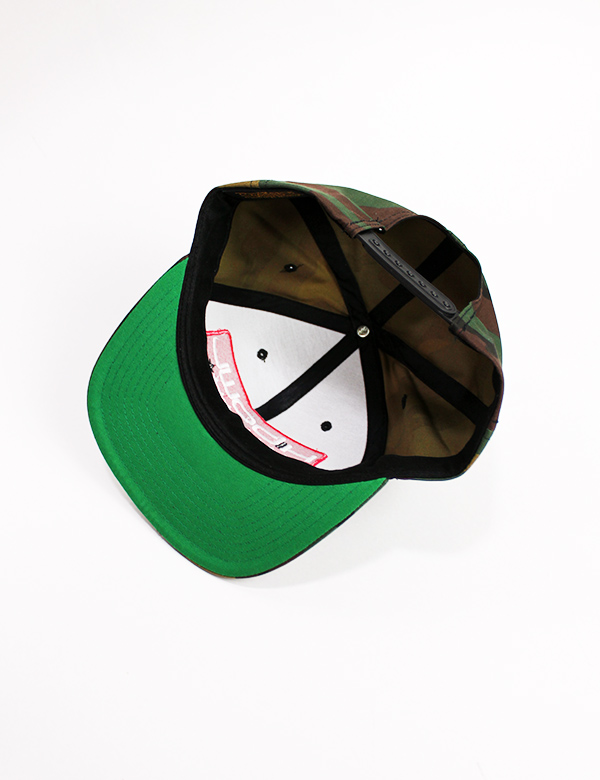 "HiBowL Snap Back Cap ""ISM"" カモフラージュ×ホワイト [hi-bcp-006]"