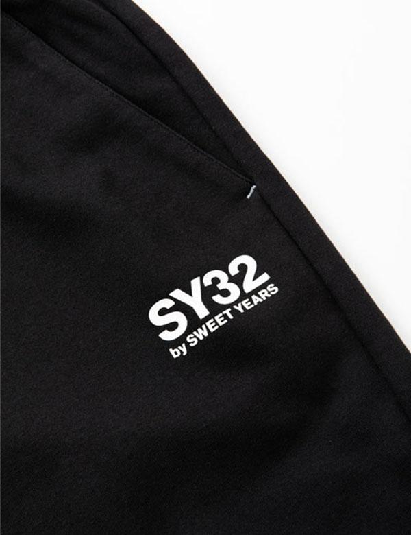 SY32 by SWEET YEARS  スウェットショートパンツ ブラック [TNS1719]
