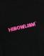"""HiBowL 3D刺繍Tee """"ISM"""" ブラック×蛍光ピンク [Hi-stee-1-Tシャツ]"""