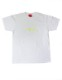 "HiBowL 3D刺繍Tee ""ISM"" ホワイト×蛍光イエロー [Hi-stee-1-Tシャツ]"