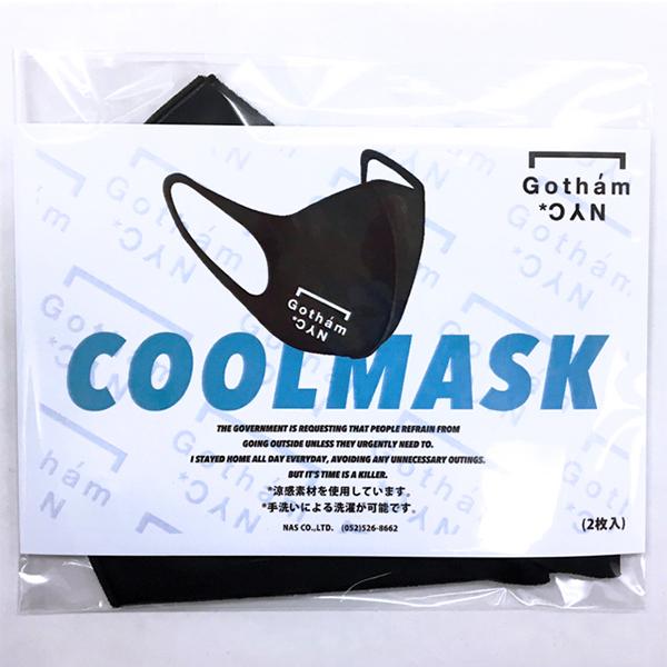 GOTHAM NYC (ゴッサムエヌワイシー)ロゴマスク2枚入り ブラック [GN730]