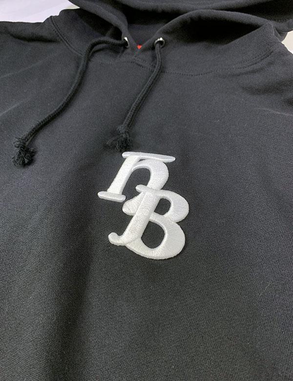 "HiBowLパーカー ""HB"" ブラック[Hi-phd-7]"