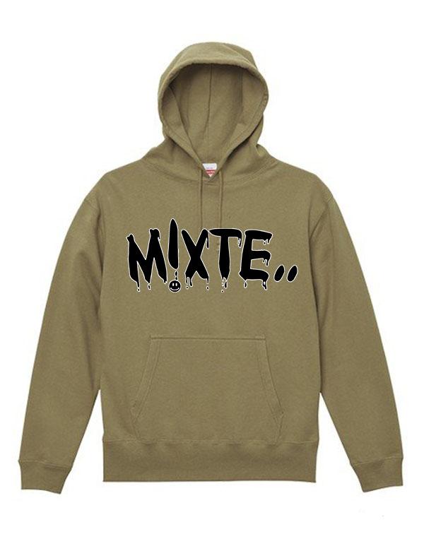 "mixte(ミクスト) Hoodie ""pt/sm""  BEIGE [mix-hoodie-3]"