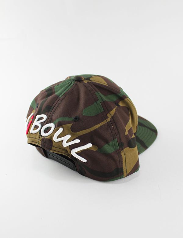 HiBowL Snap Back Cap 『 Impact』 カモフラージュ [hi-bcp-003]