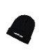 "HiBowL Knit Cap ""ISM"" ブラック×ホワイト [Hi-knc-003]"