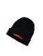 "HiBowL Knit Cap ""ISM"" ブラック×オレンジ [Hi-knc-003]"