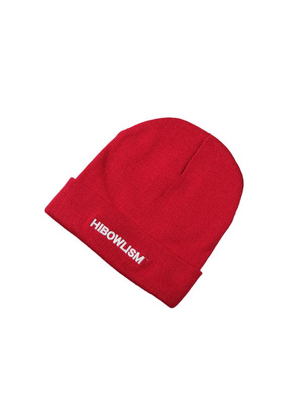 "HiBowL Knit Cap ""ISM"" レッド [Hi-knc-003]"