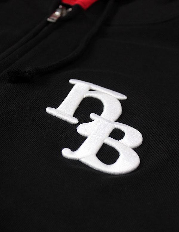 """HiBowL Zip Hoodie""""HB"""" ブラック [Hi-zip-1]"""