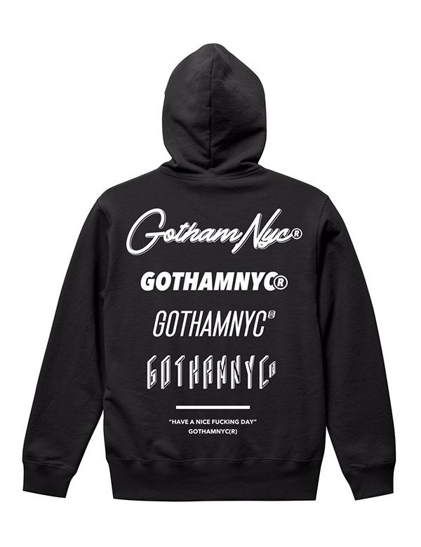 GOTHAM NYC (ゴッサムエヌワイシー)  プルオーバーパーカー BLACK  [GN745]