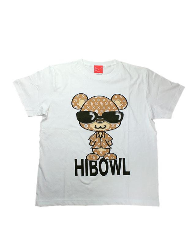"""HiBowL Tee""""HiBear"""" ホワイト×ベージュ [Hi-tee-22]"""