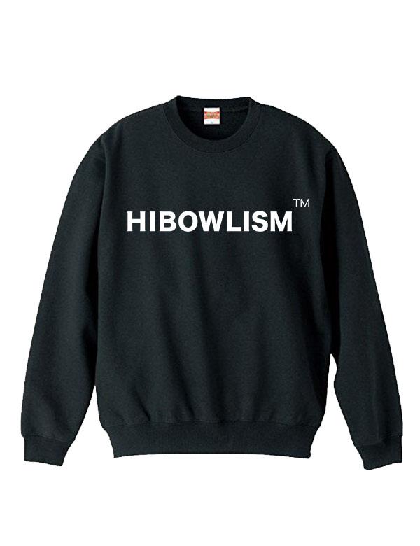 """HiBowL スウェット""""ISM"""" ブラック [Hi-sweat-6]"""