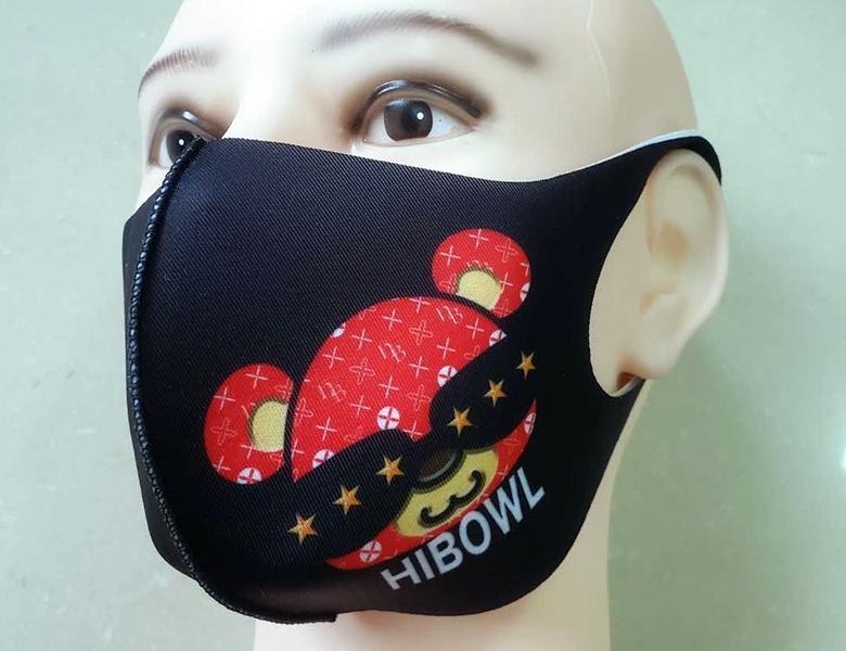 "HiBowLウレタンマスク""HiBear"" ブラック [msk-003]"