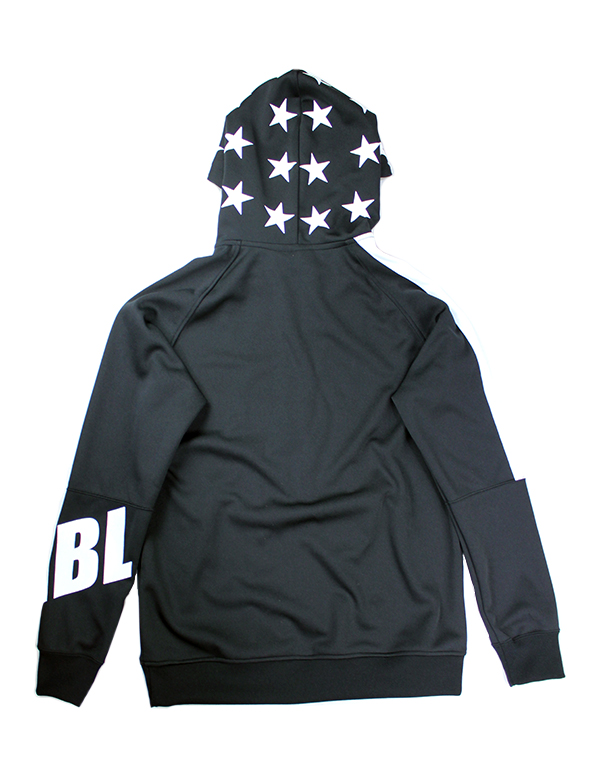 HiBowL Big Logo Jersey Hoodie ブラック×ホワイト [Hi-blh-1]