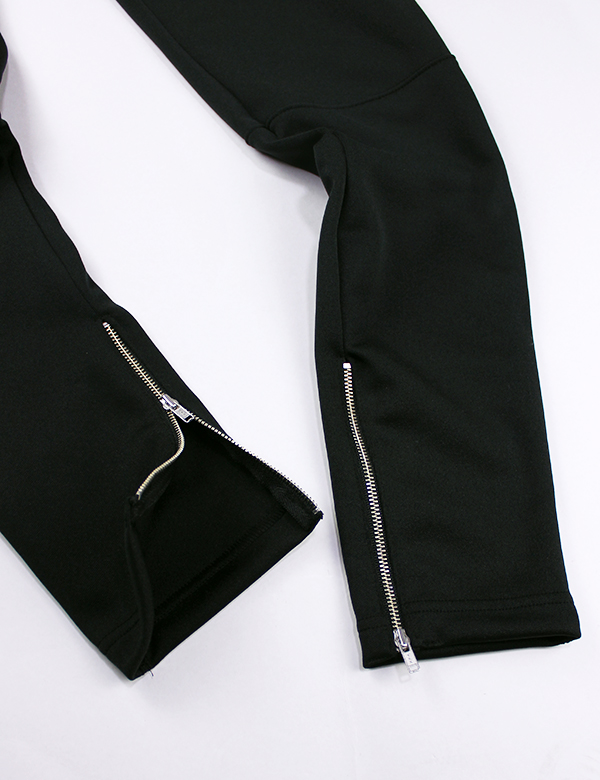 HiBowL Big Logo Skinny Jersey Pants ブラック×ホワイト [Hi-bls-1]