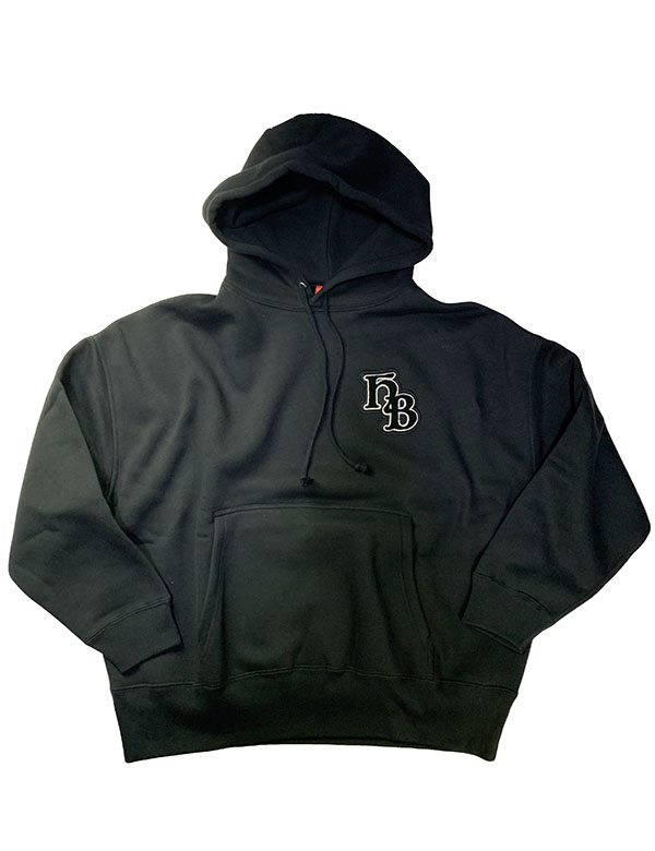 "HiBowLビッグパーカー""HB Emblem"" ブラック [hi-bgh-001]"